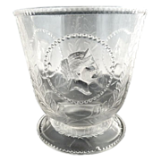 EAPG glass sugar bowl Ceres Beaded Medallion Atterbury