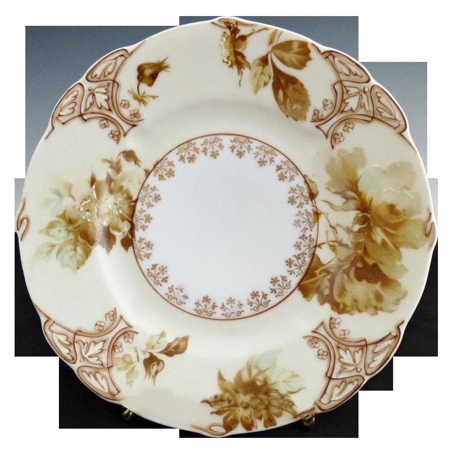 Vintage porcelain plate Old Ivory XI Hermann Ohme