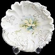 Antique porcelain bowl plume mold RS Prussia book piece