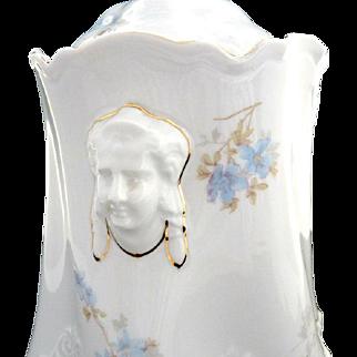 Antique figural biscuit jar Hermann Ohme