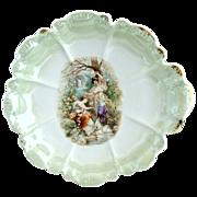 Antique porcelain portrait bowl girls with swans Royal Porcelain Bavaria