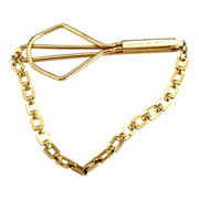 Swank tie clip with chain patented c. 1940s