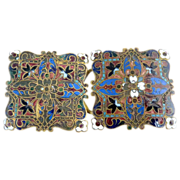 Antique belt buckle Basse-Taille enameling