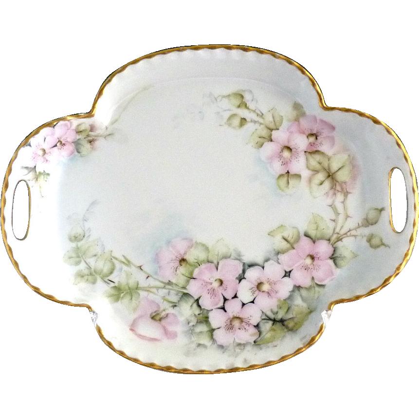 Antique Haviland porcelain vanity tray hand painted Limoges France