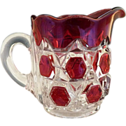EAPG childs pitcher ruby stain Late Block Red Block
