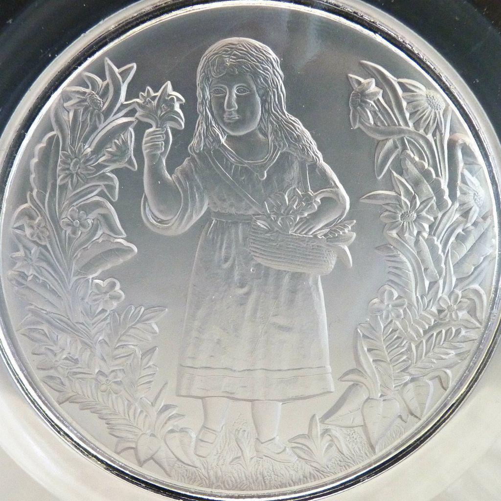 EAPG glass plate Elaine with 101 rim c. 1879