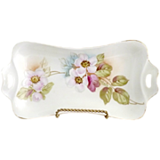 R.S. Prussia tray hand painted Lenbach cherry blossoms