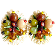 Vintage earrings fruit salad West Germany Carmen Miranda