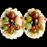 Vintage earrings fruit salad West Germany Carmen Miranda