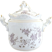 Antique Victorian cracker jar Rosenthal porcelain
