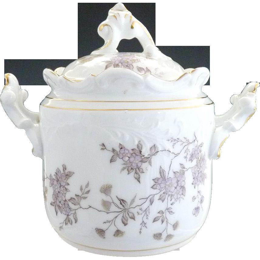 Antique Victorian cracker jar Rosenthal porcelain