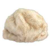 Retro mink hat caramel colored c. 1950