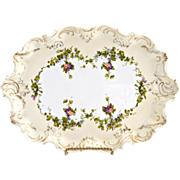 Antique porcelain dresser tray from Austria c. 1890s