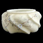 C.F. Monroe custard glass ash tray bowl Wavecrest