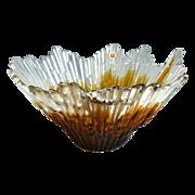 Art glass bowl Humppila Finland artist Tauno Wirkkala