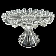 Antique glass cake stand Columbia Glass Broken Column c. 1888