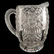 Antique O'Hara glass cream pitcher c. 1886