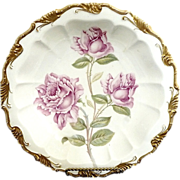 Antique bowl pink roses coin gold Alice by Rosenthal