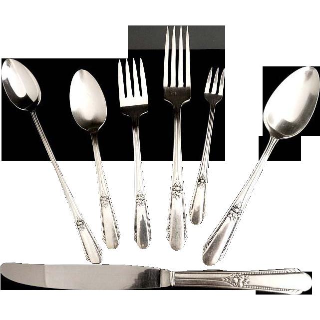 vintage silver flatware wm rogers hiawatha memory c
