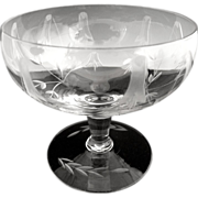 Elegant etched glass champagne glasses sherbets