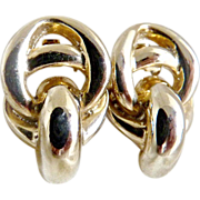 Vintage gold clip earrings Gay Boyer New York