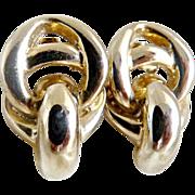Vintage gold clip earrings Gay Boyer New York