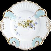 Antique porcelain cake plate Germany KPM c. 1885