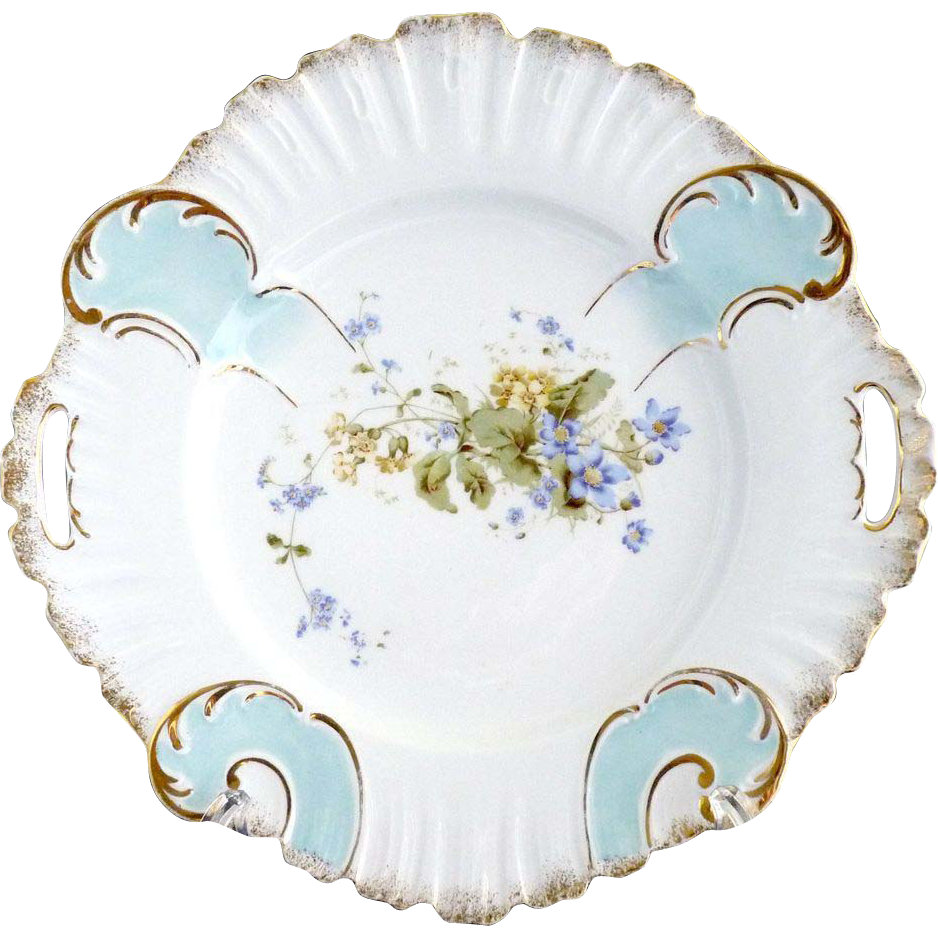 Antique Porcelain Cake Plate Germany Kpm C 1885 From
