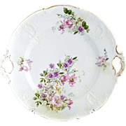 Antique cake plate German porcelain Krister c. 1880s
