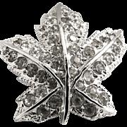 Rhinestone maple leaf pin c. 1960s