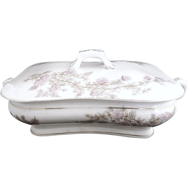 Antique porcelain casserole dish Gutherz Austria