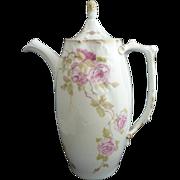 Art Nouveau chocolate pot Rosenthal porcelain Pate sur Pate