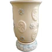 Vintage Belleek porcelain vase seventh mark