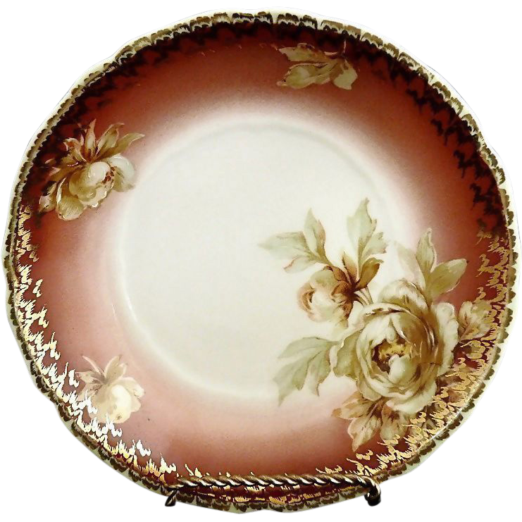 Hermann Ohme cereal bowl Carmen mold peonies