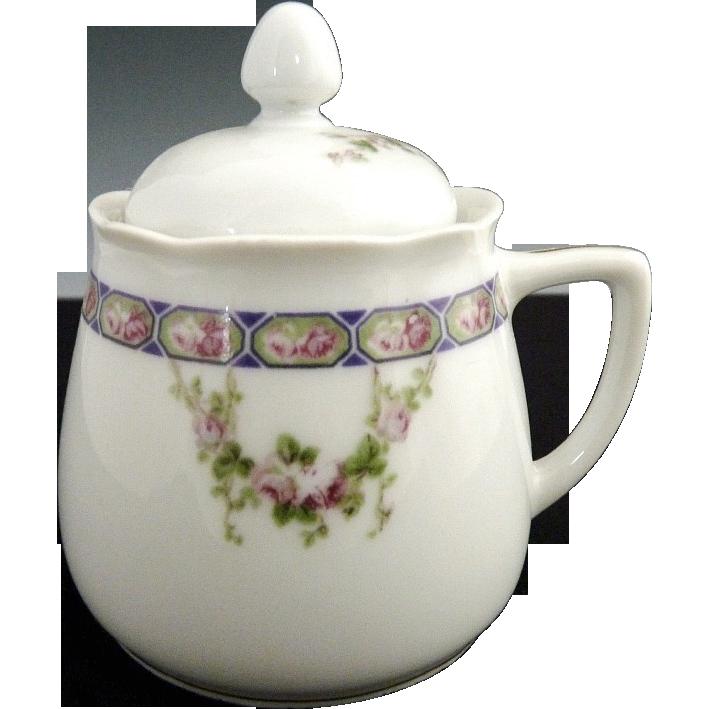 Antique porcelain jam jar mustard pot Hermann Ohme