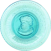 EAPG blue glass Emma plate by Bryce Higbee c. 1893
