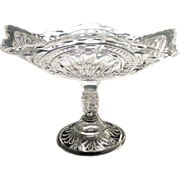 Bryce Higbee glass square compote Admiral c. 1899