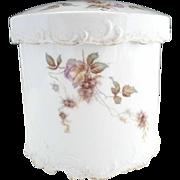 Rosenthal porcelain canister pink rose lilacs tobacco jar