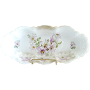 German porcelain celery tray Leuchtenburg  c. 1890s