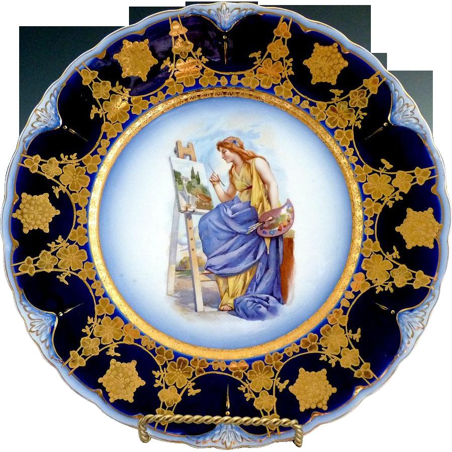 Clarus Ware portrait plate Artist at Work Pope Gosser
