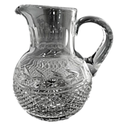 Vintage cut glass juice pitcher c. 1940s