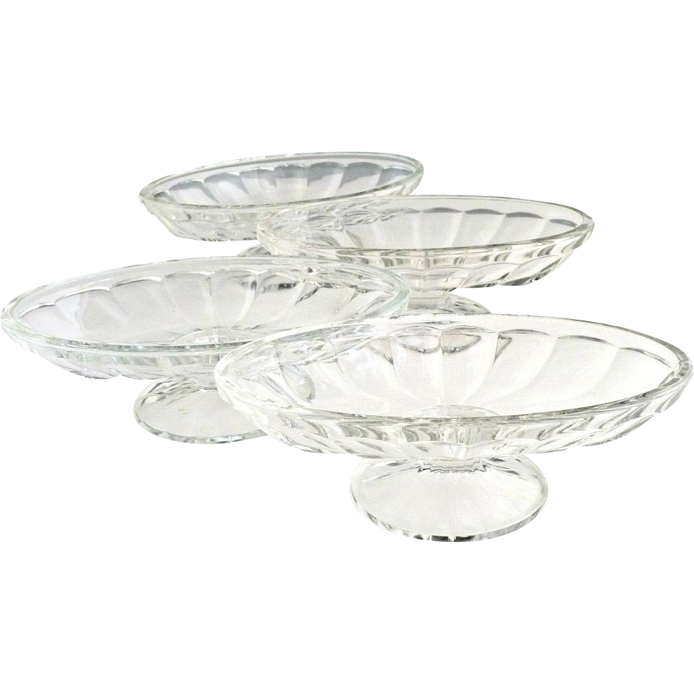 Heisey Glass  soda fountain ice cream dishes c. 1913