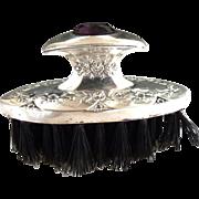 Vintage sterling silver jewel top nail brush