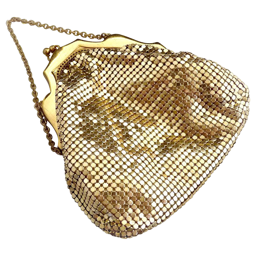 Whiting Davis gold mesh purse c. 1920s