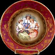 ES Prussia portrait plate Victorian musicale book piece