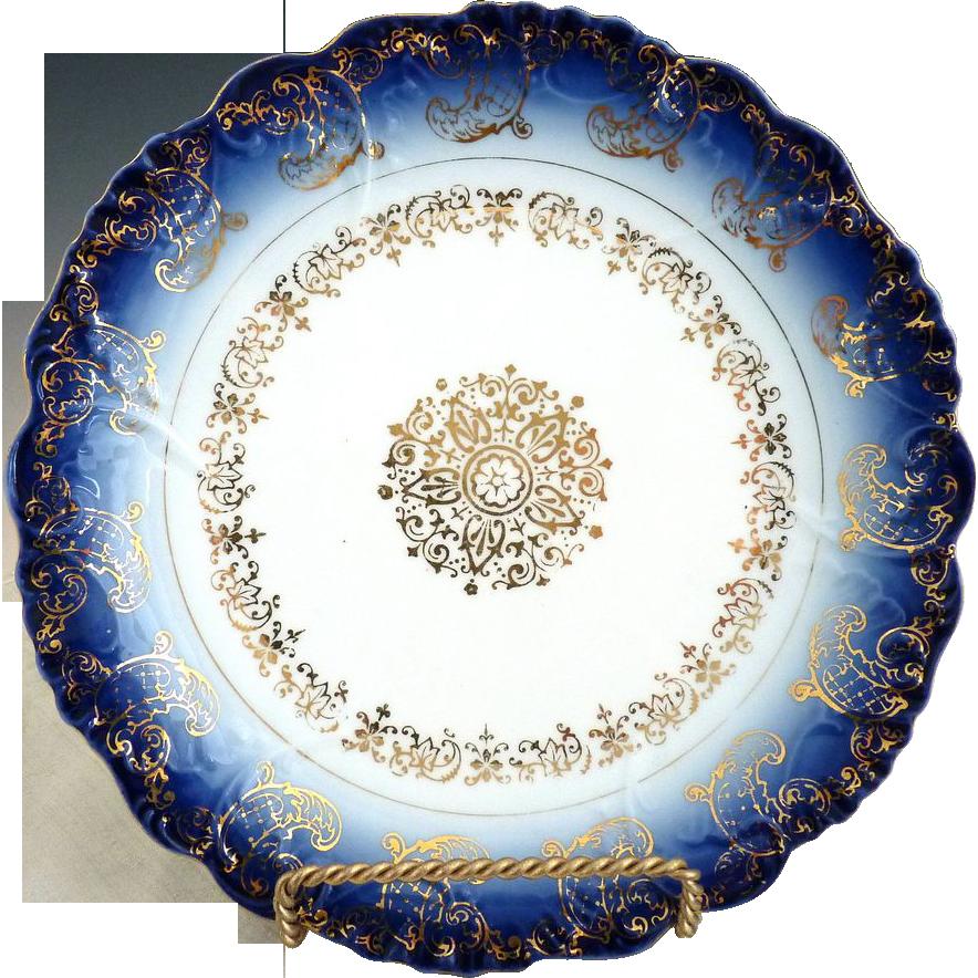 Austria cobalt plate gold filigree c. 1890s