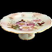 Schumann Wild Rose cake stand Bavaria porcelain