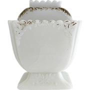 Westmoreland opaque milk glass sugar bowl Feather