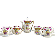 RS Prussia porcelain toy tea set hand painted original box