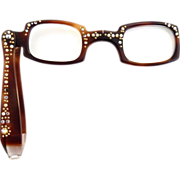 Vintage reading glasses rhinestone studded frame